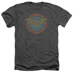 Image for Wonder Woman Heather T-Shirt - Vintage Emblem