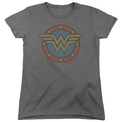 Image for Wonder Woman Womans T-Shirt - Vintage Emblem