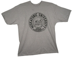 Image Closeup for HP Lovecraft Miskatonic University Seal T-Shirt