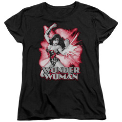 Image for Wonder Woman Womans T-Shirt - Red and Grey