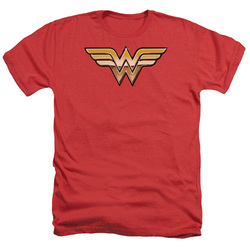 Image for Wonder Woman Heather T-Shirt - Golden Logo
