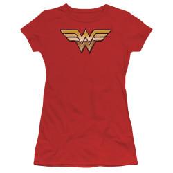 Image for Wonder Woman Girls T-Shirt - Golden Logo