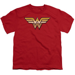 Image for Wonder Woman Youth T-Shirt - Golden Logo
