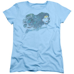 Image for Wonder Woman Womans T-Shirt - Watercolor Hair