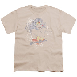 Image for Wonder Woman Youth T-Shirt - Sketch Truth