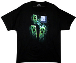 Image for Minecraft T-Shirt - Three Creeper Moon