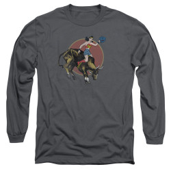 Image for Wonder Woman Long Sleeve Shirt - Bull Rider
