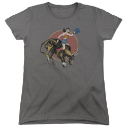 Image for Wonder Woman Womans T-Shirt - Bull Rider