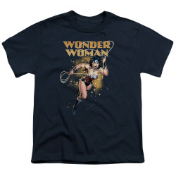 Image for Wonder Woman Youth T-Shirt - Star Lasso
