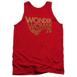 Image for Wonder Woman Tank Top - 75th Anniversary Gold Logo