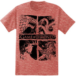 Image for Game of Thrones 4 Houses Heather T-Shirt