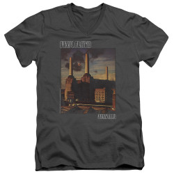 Image for Pink Floyd V Neck T-Shirt - Faded Animals