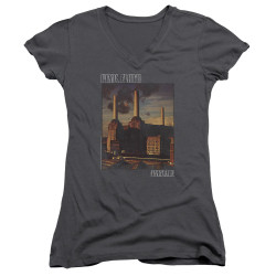 Image for Pink Floyd Girls V Neck - Faded Animals