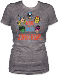 Image for Marvel Girls T-Shirt - Make My Man a Super Hero!