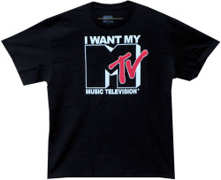 Image Closeup for I Want My MTV Retro Logo T-Shirt