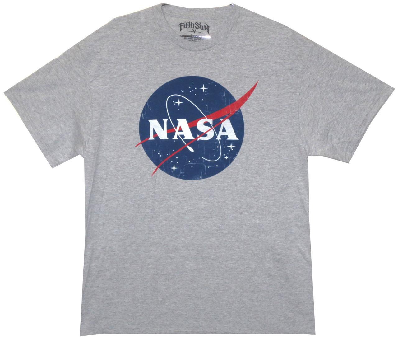 a4aefe8aecbf Distressed NASA Logo T-Shirt - NerdKungFu