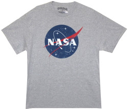Image for Distressed NASA Logo T-Shirt