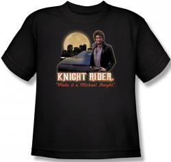 Image for Knight Rider Full Moon Youth T-Shirt