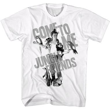 Image for Ace Ventura Pet Detective T-Shirt - Come to Me Jungle Friends