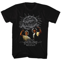 Image for Bill & Ted's Excellent Adventure T-Shirt - Grey Wyld Stallyns