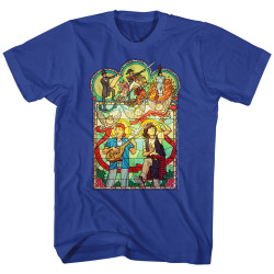Image for Bill & Ted's Excellent Adventure T-Shirt - Stained Glass