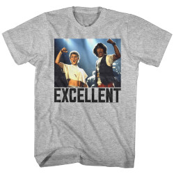 Image for Bill & Ted's Excellent Adventure Heather T-Shirt - Excellent