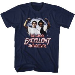 Image for Bill & Ted's Excellent Adventure T-Shirt - Rock On Dudes!