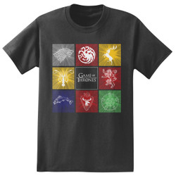 Image for Game of Thrones T-Shirt - Boxed Houses