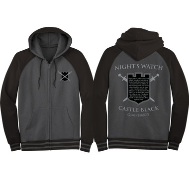 Image for Game of Thrones Zip Up Hoodie - Castle Black Night's Watch