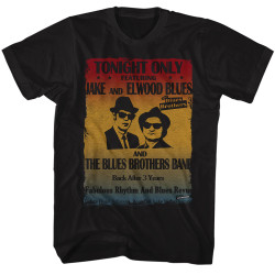 Image for The Blues Brothers T-Shirt - Tonight Only Poster