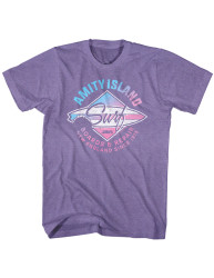 Image for Jaws Heather T-Shirt - Amity Island Surf