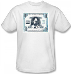 Image Closeup for The Office Schrute Buck T-Shirt