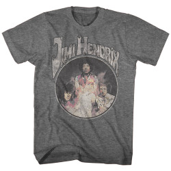 Image for Jimi Hendrix Heather T-Shirt - Super Old