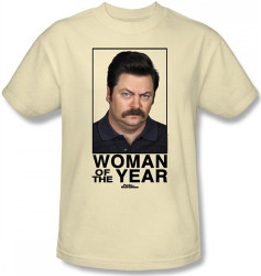 Image Closeup for Parks & Rec Woman of the Year T-Shirt