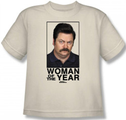 Image for Parks & Rec Woman of the Year Youth T-Shirt