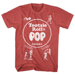 Image for Tootsie Roll Heather T Shirt - Pop Wrap