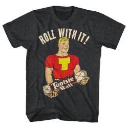 Image for Tootsie Roll Heather T Shirt - Let Me Roll It