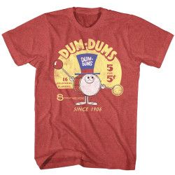 Image for Dum Dums Heather T Shirt - Drum Man Ad