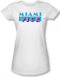 Image for Miami Vice Logo Girls Shirt