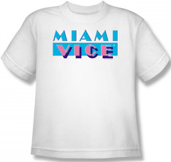 Image for Miami Vice Logo Youth T-Shirt