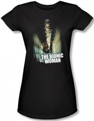 Image for The Bionic Woman Motion Blur Girls Shirt