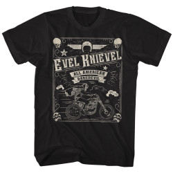 Image for Evel Knievel T-Shirt - Skulled Border