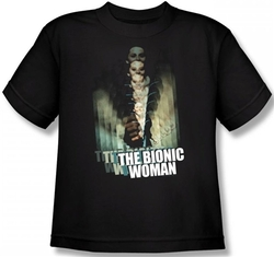 Image for The Bionic Woman Motion Blur Youth T-Shirt