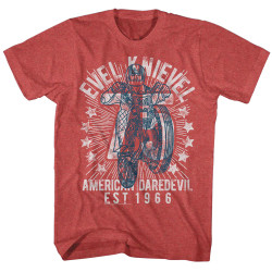 Image for Evel Knievel Heather T-Shirt - Seventy Five!