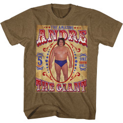 Image for Andre the Giant Heather T-Shirt - Sideshow Andre