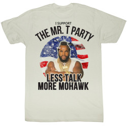 Image for Mr. T T-Shirt - Less Talk More Mohawk