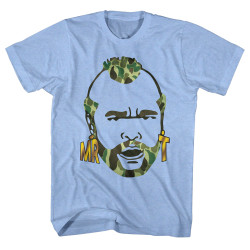 Image for Mr. T T-Shirt - Camo Hair
