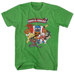 Image for Ghost 'n Goblins Run Away Heather T-Shirt