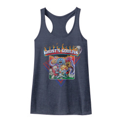 Image for Ghost 'n Goblins Grid Heather Tank Top