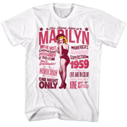 Image for Norma Jean as Marilyn T-Shirt - Superstar 1959